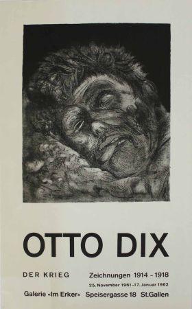 リトグラフ Dix - Toter (St. Clément) [Dead Man (St. Clément)]