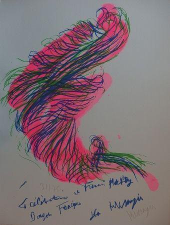 リトグラフ Messagier - Tourbillon rose