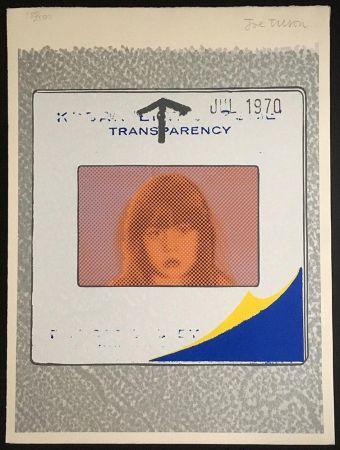 シルクスクリーン Tilson - Transparency, Snapshot