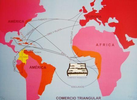 リトグラフ Hoyos -  Triangulo Comercial