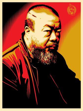 シルクスクリーン Fairey - Tribute to Ai Weiwei