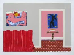 リトグラフ Nhlengethwa - Tribute to Henry Matisse