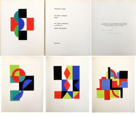 挿絵入り本 Delaunay - Tristan Tzara. LE FRUIT PERMIS. 4 pochoirs (1956)