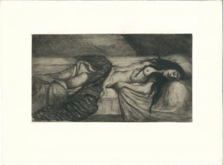 彫版 Cottet - Tristesse