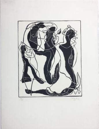 木版 Survage - Trois Femmes (Paris, 1933)