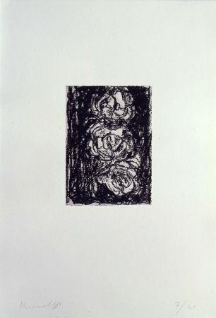 リトグラフ Kounellis - Trois roses