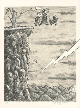 リトグラフ Spiegelman - Trump l'Oeil (grey version)