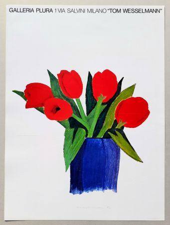 リトグラフ Wesselmann - Tulips in a vase