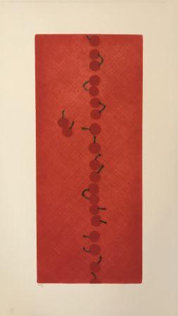 メゾチント彫法 Hamaguchi - Twenty-two Cherries (Set of 7)