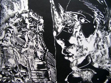 アクチアント Picasso - TWO BUSTS (WHITE LINE)