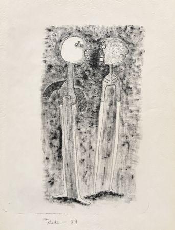 リトグラフ Toledo - Two Figures