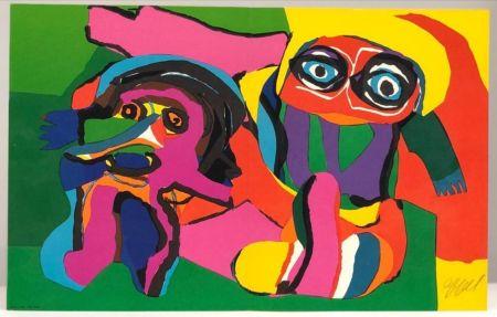 シルクスクリーン Appel - Two Figures, ca.
