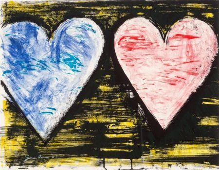 リトグラフ Dine - Two Hearts at Sunset