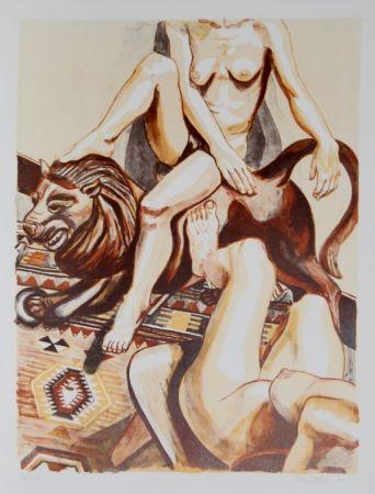リトグラフ Pearlstein - Two Nude Women