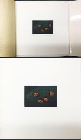 メゾチント彫法 Hamaguchi - Two Pairs (Ladybirds). signed. with the original book (1976)