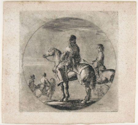 彫版 Della Bella - TWO POLISH HORSEMEN