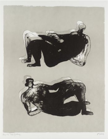 リトグラフ Moore - Two Reclining Figures
