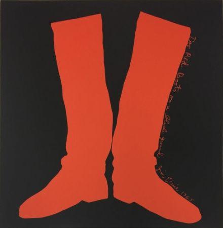 多数の Dine - Two Red Boots on a Black Ground,