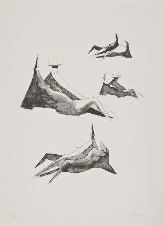 リトグラフ Chadwick - Two seating figures II