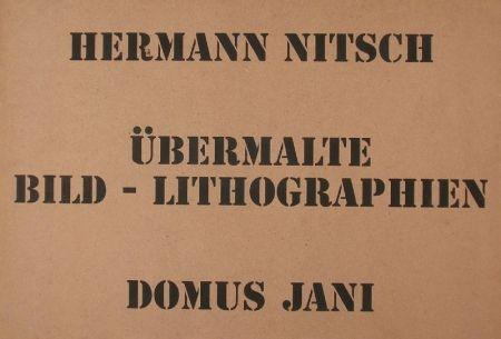 リトグラフ Nitsch - UBERMALTE  BILD