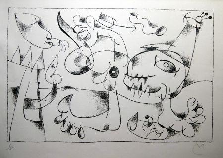 リトグラフ Miró - UBU ROI