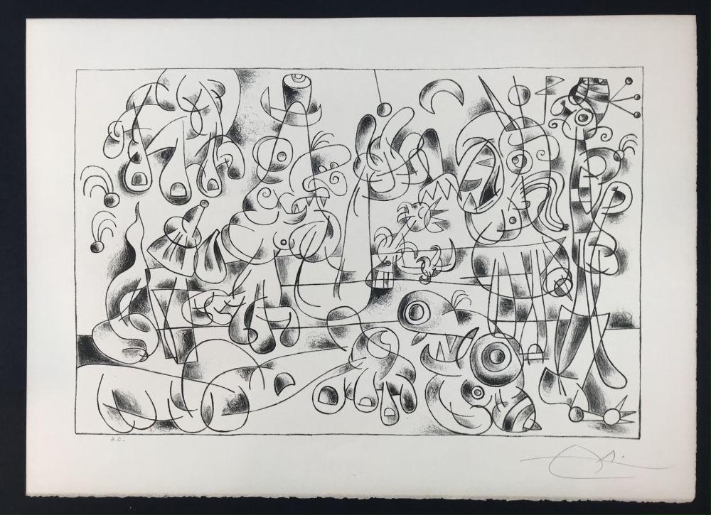 リトグラフ Miró -  Ubu Roi (King Ubu ) from 'Suites por Ubu Roi'