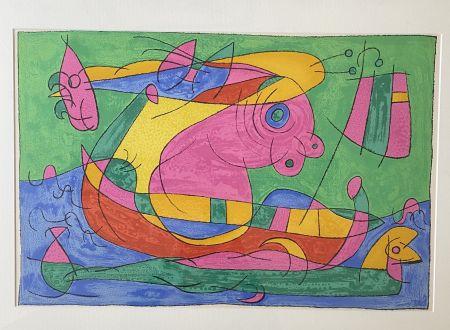 リトグラフ Miró - UBU Roi (plate 13)