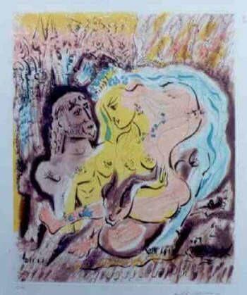 エッチングと アクチアント Masson - Ulysses et Circe's