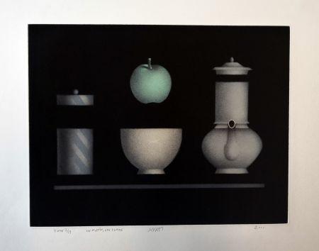 メゾチント彫法 Avati - Un matin, une pomme