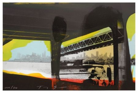 リトグラフ Soulie - Under a Bridge