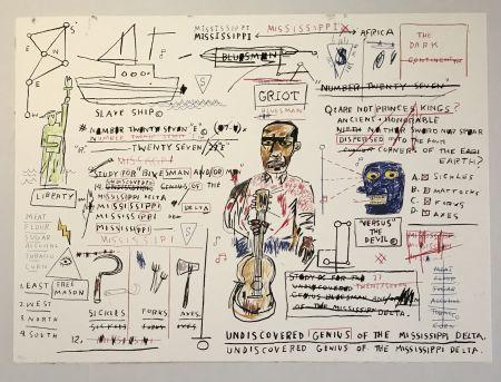 シルクスクリーン Basquiat - Undiscovered Genius