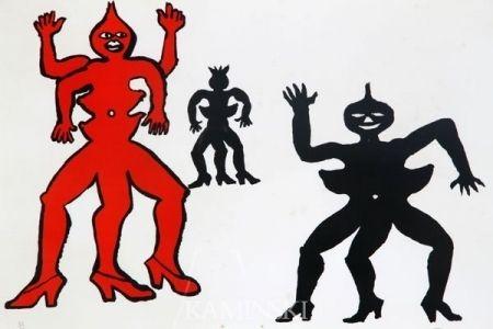 リトグラフ Calder - Une famille de là bas