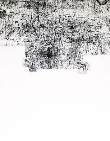 エッチングと アクチアント Chillida - Une helene de vent ou fumee III