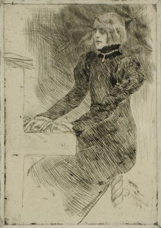 彫版 Rops - Une pianiste shaker / A Shaker Pianist