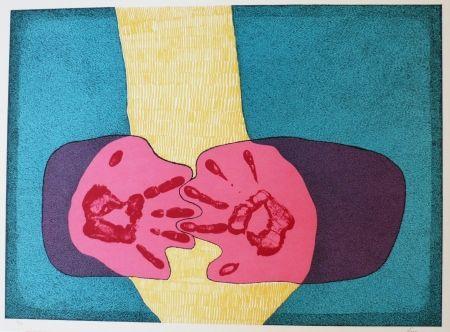 リトグラフ Serrano - Unidad de manos