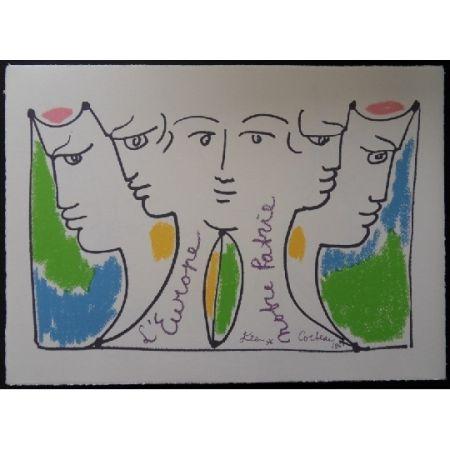 リトグラフ Cocteau - Union Européenne