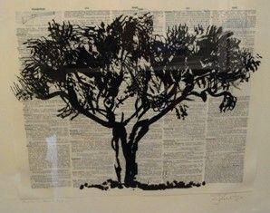 リノリウム彫版 Kentridge - Universal Archive Tree D