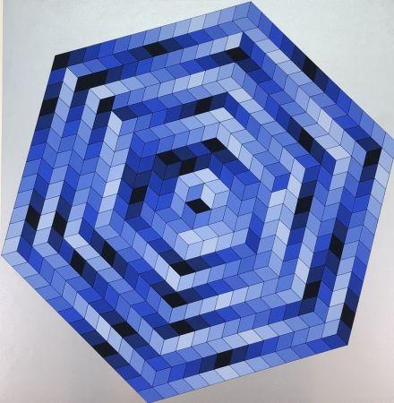 リトグラフ Vasarely - Untitled