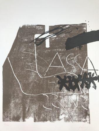 リトグラフ Tàpies - Untitled