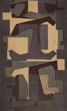 リノリウム彫版 Deyrolle - Untitled