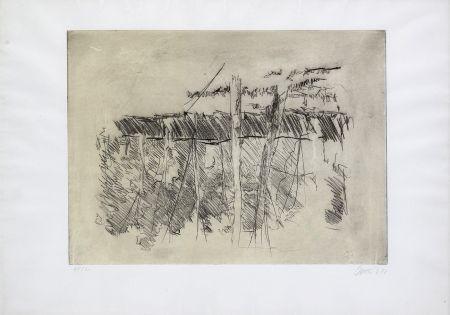 エッチング Baselitz - Untitled