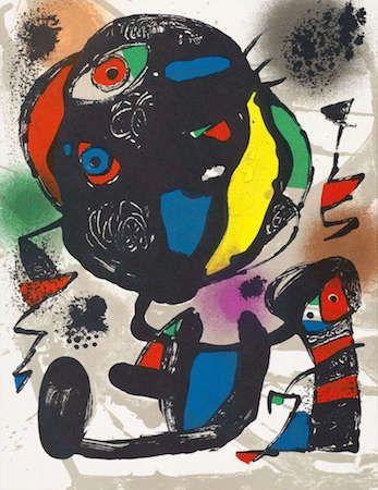 リトグラフ Miró - Untitled