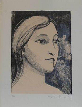 リトグラフ Brown - Untitled-(Portrait)