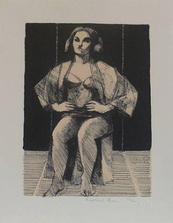 リトグラフ Brown - Untitled-(Seated Portrait)