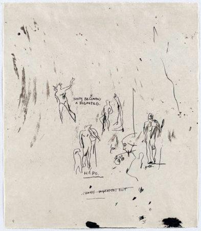 シルクスクリーン Basquiat - Untitled 5 (from Leonardo)