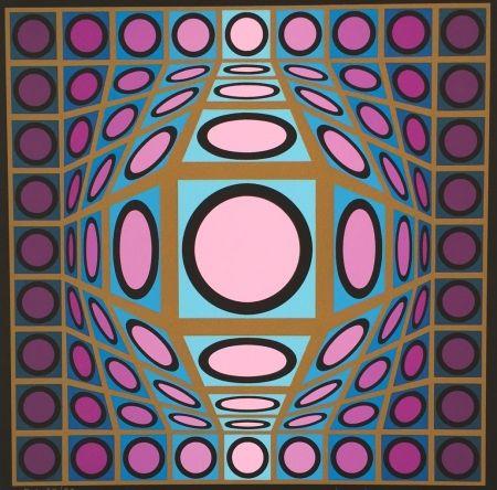 シルクスクリーン Vasarely - Untitled #8