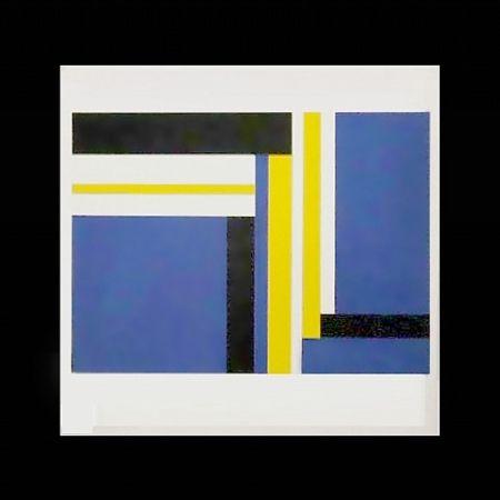 シルクスクリーン Bolotowsky - Untitled (Blue)