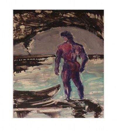モノタイプ Flores - Untitled, Blue Man