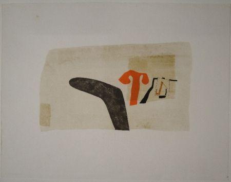 リトグラフ Bissier - Untitled (Composition)