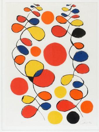 リトグラフ Calder - Untitled (Composition With Spirals And Circles)